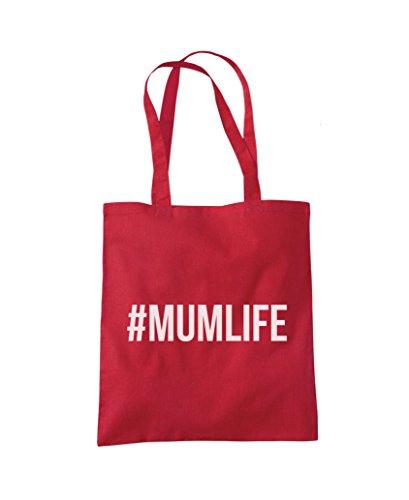 #MUMLIFE Mum Life - Tote Shopper Fashion Bag Red
