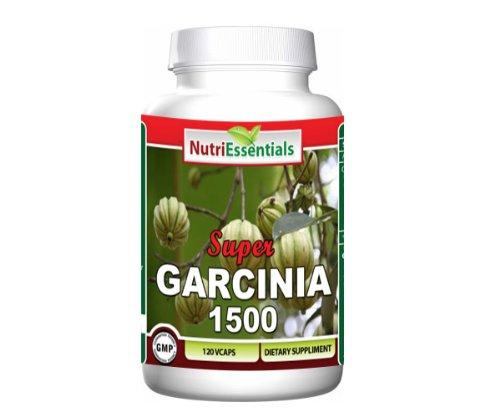 Nutri Essentials Super Garcinia 500 mg par capsule, 120 capsules végétariennes