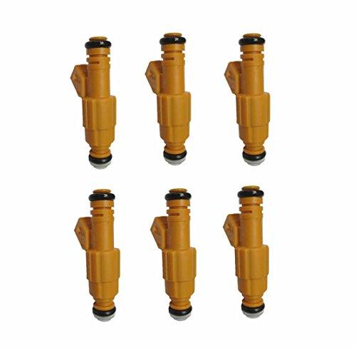 Set of 6 19LB injector For 87-98 Jeep 4.0L Type III TJ XJ YJ ZJ 0280155710