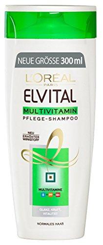 L'Oréal Paris Elvital Shampoo Multivitamin, 3er Pack (3 x 300 ml)