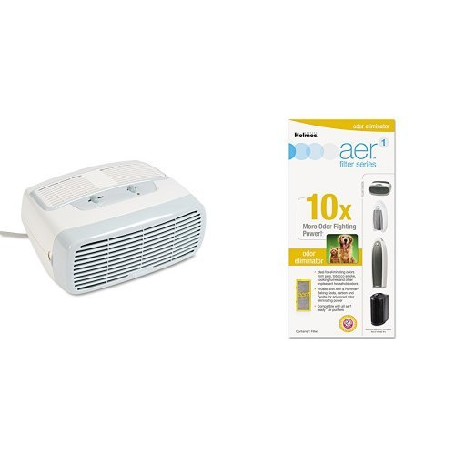 Holmes HEPA Type Desktop Air Purifier with Odor Eliminator Filter