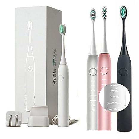 Bazaar Junjiada pulso sónico de blanqueamiento de dientes eléctrico de limpieza de cerdas suaves cepillo de dientes para adultos: Amazon.es: Hogar