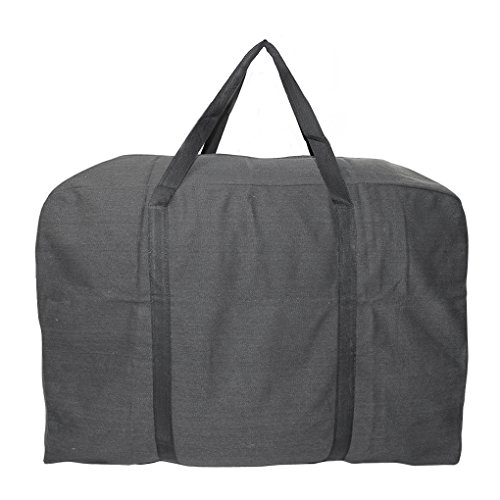 Extra Large Over-sized Handy Storage Bag Waterproof Durable Oxford Travel Luggage Caddy Organizer Quilt Blanket Duvet Reusable Laundry Bag Weekender Duffel Tote Storage Bag with 2 Web Handles ()