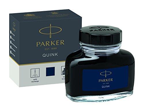 Parker Füllhalter Parker 57ml Liquid botttled Quink Tinte-schwarz Box blau / schwarz
