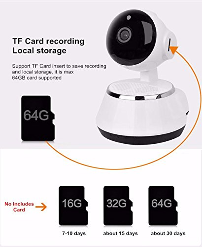 Baby Monitor,Ounice Wireless 720P Pan Tilt Network Security Surveillance CCTV IP Camera Night Vision WiFi Webcam