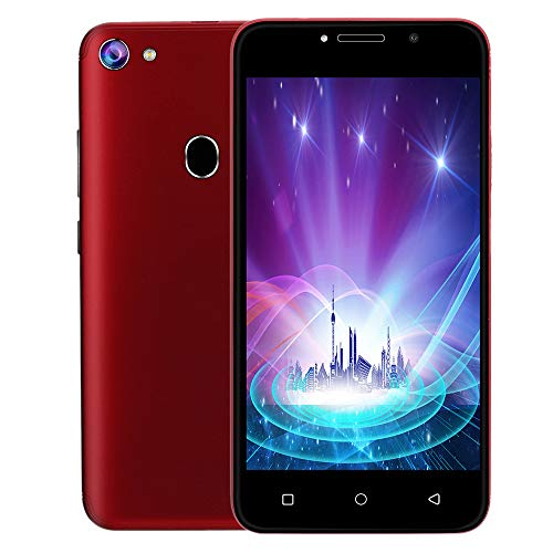 NDGDA, Unlocked 3G LTE Android 7.0 Cell Phone Smartphone 2 SIM 4GB WiFi 5MP AT&T (Red)