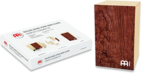 Snare Burl - Meinl Percussion Deluxe Make Your Own Snare Cajon Kit with Tool Box - MADE IN EUROPE - Burl Wood Frontplate/Baltic Birch Body, Includes Easy to Follow Manual, 2-YEAR WARRANTY DMYO-CAJ-BU