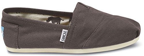 TOMS Womens Classic Linen Rope-Sole Comfortable and Easy-Fit Slip-On Ash Grey lHly9tM1d