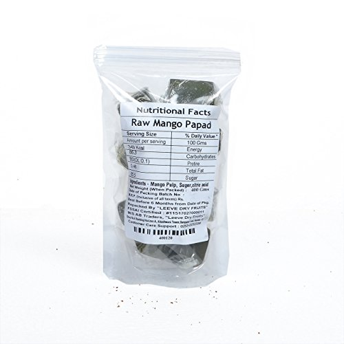 Leeve Dry Fruits Raw Mango Bar Kacha Aam- 200 Grams by Leeve Dry Fruits (Image #1)'