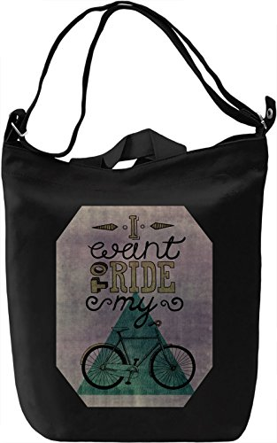 Bike Lovers Borsa Giornaliera Canvas Canvas Day Bag| 100% Premium Cotton Canvas| DTG Printing|