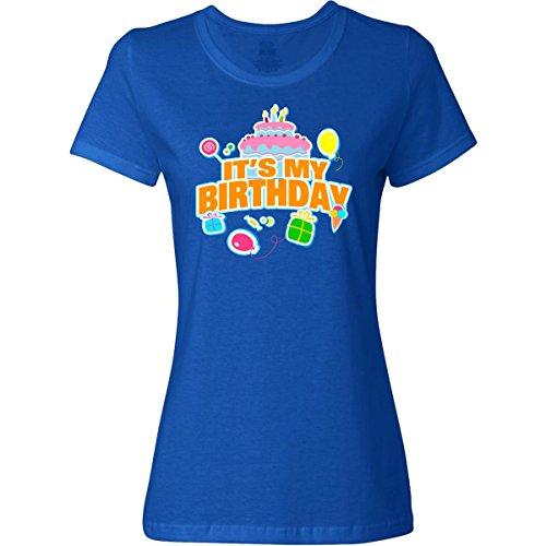 Inktastic It's My Birthday Women's T-Shirt XX-Large Deep Royal Blue