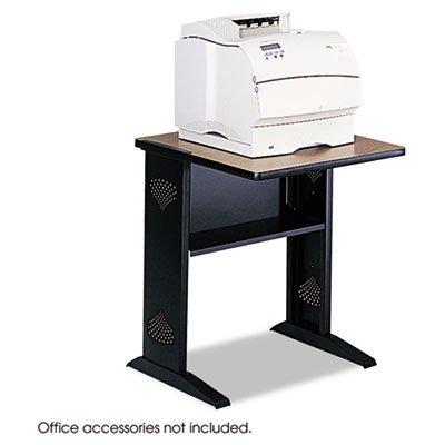 Fax/Printer Stand w/Reversible Top, 23-1/2w x 28d x 30h, Medium Oak/Black, Sold as 1 Each -