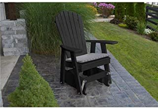 product image for Poly 2 Ft Single Adirondack Glider Chair - Black