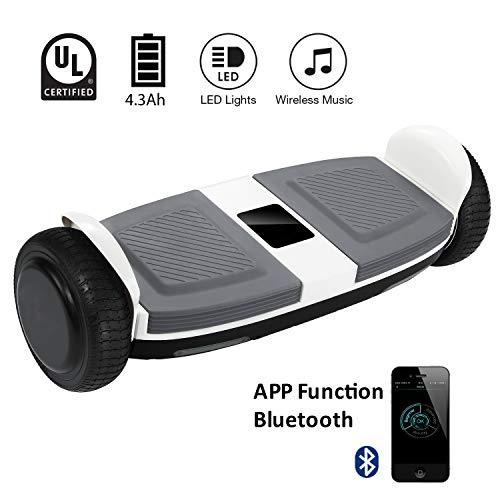 MARKBOARD Skateboard de 6.5 Pulgadas Scooter Eléctrico con App Bluetooth Certificado: Amazon.es: Deportes y aire libre