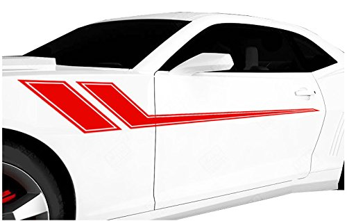 FGD Universal Racing Pin Stripe Decal Set 68″x8.5″ You Pick The Color (Red)