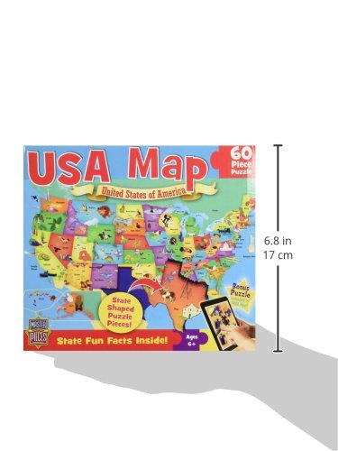 41tgLK2e3zL - MasterPieces Explorer Kids - USA Map - 60 Piece Kids Puzzle