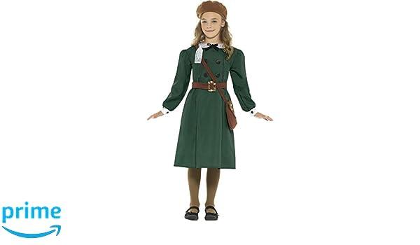 Smiffys WWII evacuados Niñas Disfraz British Guerra Mundial 2 libro día disfraz para niña (7 - 9 años): Amazon.es: Juguetes y juegos