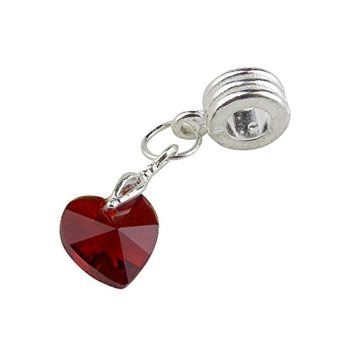 (Universal Red Crystal Faceted Heart)