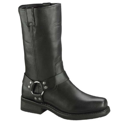 Harley-Davidson Men's Hustin Motorcycle Boot,Black,11.5 W US