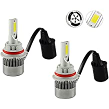 Mega Racer 9007-HB5 6000K Ultra Bright White (High/Low Beam) CREE COB C6 LED Xenon Kit 7600 Lumen 72W US Automotive