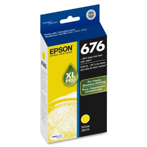 Epson T676XL420 DURABrite Inkjet Cartridge Yellow product image