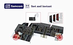 Samcom 10-Channel Digital FM Wireless Intercom System for Home and Office 4 Stations