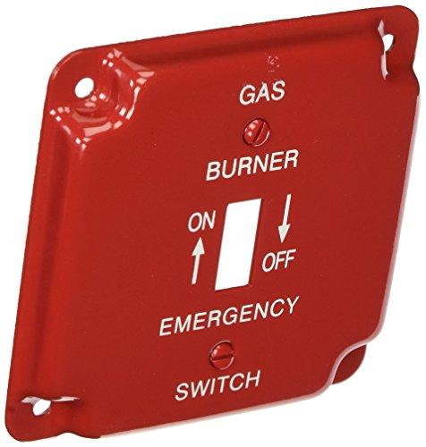 Emergency Metal Switch Plates - Morris 83497 Emergency Metal Switch Plate, 4