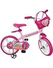 """Bicicleta Aro 14"""" Sweet Game, Bandeirante, 3030, Rosa"""