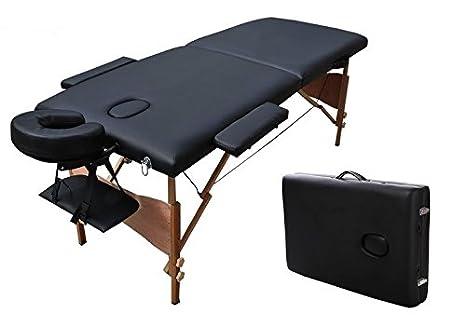 Lettino Per Massaggio Reiki In Legno 185 X 60 Cm Pieghevole 2