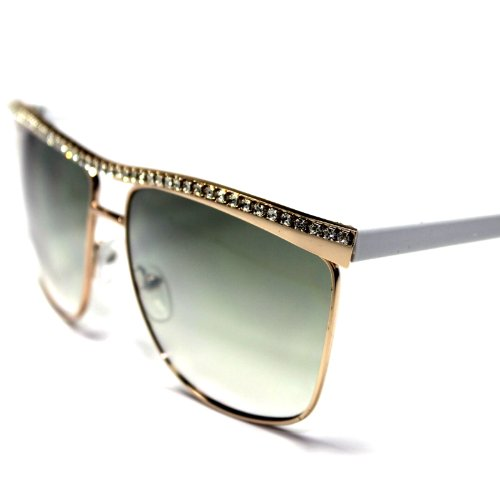 #GB13-HC4 Golden Bridge Sexy Rhinestone Women's Wayfarer - Gaga Eye Cat Sunglasses Lady