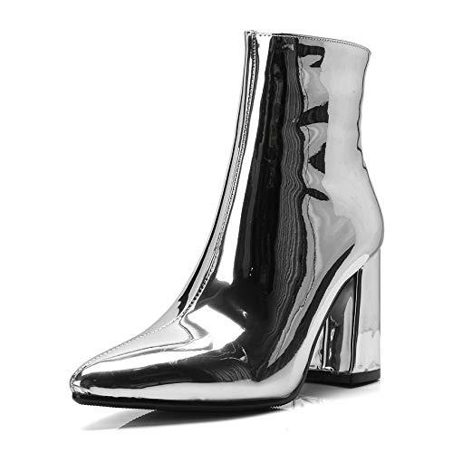 HOESCZS 2019 2019 2019 Frauen Schuhe Pu-Leder Frauen Stiefeletten Platz High Heel Spitz Mode Winter Frauen Stiefel Große Größe 34-42 577bc4