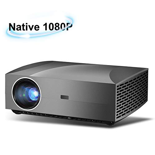 Native 1080p HD Projector, Brightness 800 ANSI [5,000 LUX], 280″ Display LED Video Beam Projector with 50,000 Hours Life Span, for Home Theater & Business Presentation with USB/HDMI/SPDIF Ports