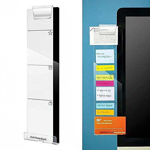 - Monitor Memo Pads, izBuy Computer Monitors Screen Acrylic Message Boards/Multi Memo Pads for A4 Paper,Sticky Notes, Phone and More,Wide Bottom with Hole for Charge Cable and Clip for on Top (Left)