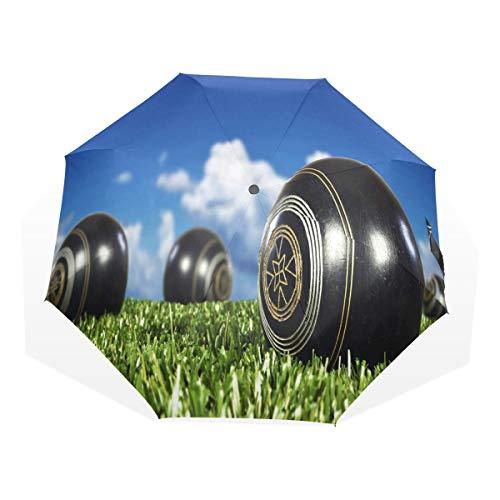 Umbrella Lawn Bowls Travel Golf Sun Rain Windproof umbrellas with UV Protection for Kids Girls ()