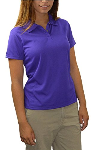 Eyelet Bermuda (Bermuda Sands Women's LADY BREEZE - Micro Fiber Golf Shirt- Plum - XL)