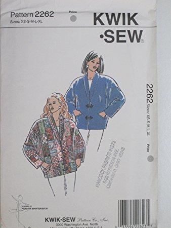Kwik Sew Pattern 2262 Misses' Jacket Sizes XS-S-M-L-XL