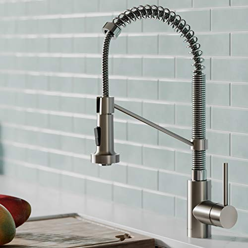 (Kraus KPF-1610SFSCH Bolden Kitchen Faucet, Spot Free Stainless Steel/Chrome)