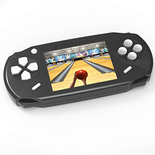 TEBIYOU Adults Kids Handheld Game Console, Portable Retro Game Player Built in 16 Bit 100 HD Classic Electronic Video Games 3.0 Large Screen USB Rechargeable Handheld Game for Toddlers (Black)