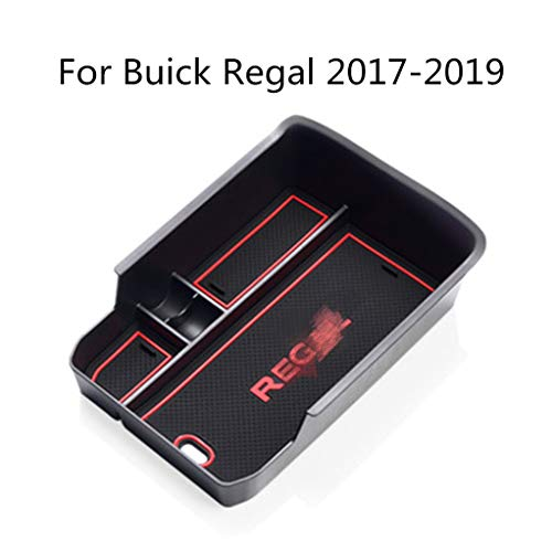 - MyGone Center Console Armrest Box Insert Organizer Tray for Buick Regal 2017-2019 ABS Plastic Secondary Storage with Rubber Liners