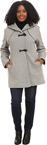 Wool Duffle Coat (Jessica Simpson Women's Plus Size Braided Wool Duffle Coat Grey Outerwear)
