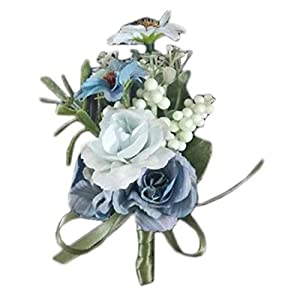 essibly11jmp Exquisite Ribbon Bridal Pin Brooch Corsage Wrist Flower Wedding Party Decoration 96