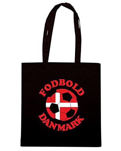 T-Shirtshock - Bolsa para la compra T0711 fodbold danmark danimarca calcio ultras Negro