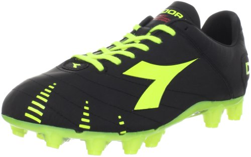 Diadora Men's Evoluzione K Pro Soccer Cleat,Black/Yellow Flou,8.5 M US
