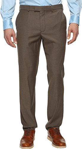 Perry Ellis Men's Portfolio Modern Fit Flat Front Bengaline Pant, Raindrum, 33W x 30L -