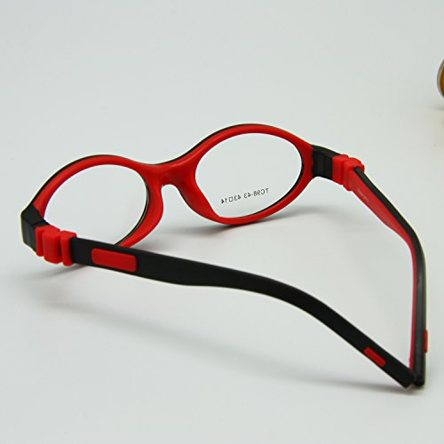 EnzoDate Boys Glasses Frame Size 43/14 Silicone TR90 Double Layers, No Screw Safe Flexible Girls Eyeglasses, Bendable Kids Eyeglasses - Frames Multi Colored Eyeglasses