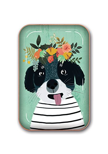 Studio Oh! Medium Metal Catchall Tray Available in 12 Different Designs, Mia Charro Fancy Flower (Flower Tray)
