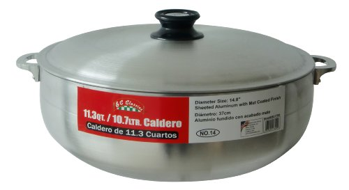 BC Classics BC-17300 Caldero Aluminium Oven with Lid, 10.7-L..