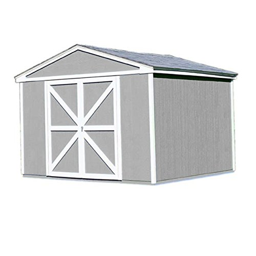 Shed Storage Wood Somerset - Handy Home Products Somerset Wooden Storage Shed, 10 by 10-Feet