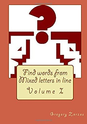 Buy Find words from Mixed letters in line: Volume I Book Online at
