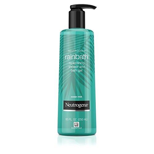 Neutrogena Rainbath Replenishing and Cleansing Shower and Bath Gel, Moisturizing Body Wash and Shaving Gel with Clean Rinsing Lather, Ocean Mist Scent, 8.5 fl. oz